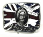 belt buckle, Sex Pistols The Queen UK Flag
