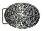 belt buckle, Western flowers