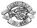 belt buckle, Lone Wolf No Club