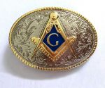 belt buckle, Mason color gold and silver