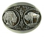 belt buckle, Cowboy Old West Indian Liberty Buffalo